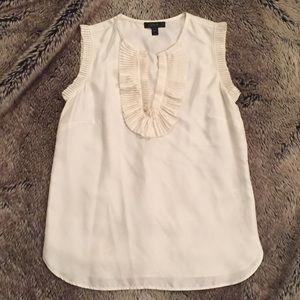 J. Crew silk sleeveless shirt, size 00